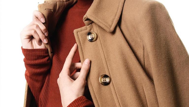 women in brown overcoat