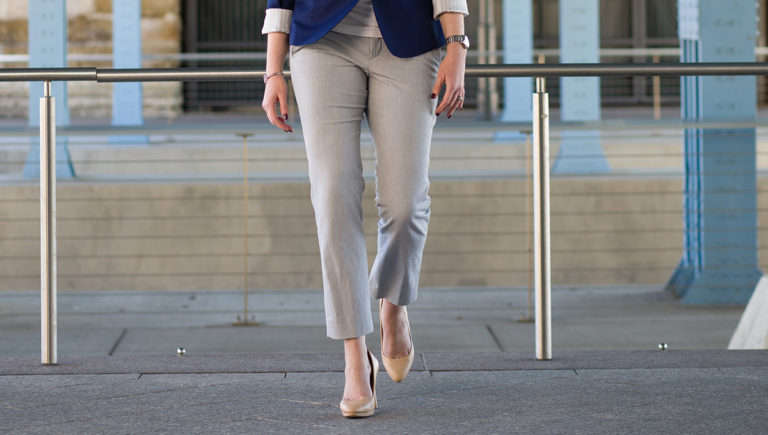 woman in khaki pants